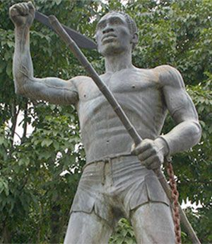 """Gaspar Yanga, known as the """"first liberator of the Americas"""". He was an African slave whose odyssey began in 1570 when he staged a revolt at a sugarcane plantation near Veracruz. He and a small group of former slaves established their own colony, or palanque, which they called San Lorenzo de los Negros. Colonial authorities managed to destroy the settlement 1609 but were unable to capture Yanga's followers and eventually settled for a peace treaty with the former slaves."""