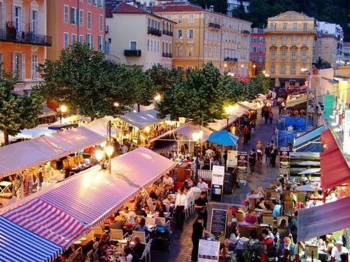 Food, Fun, Flowers - Cours Saleya in Nice, France