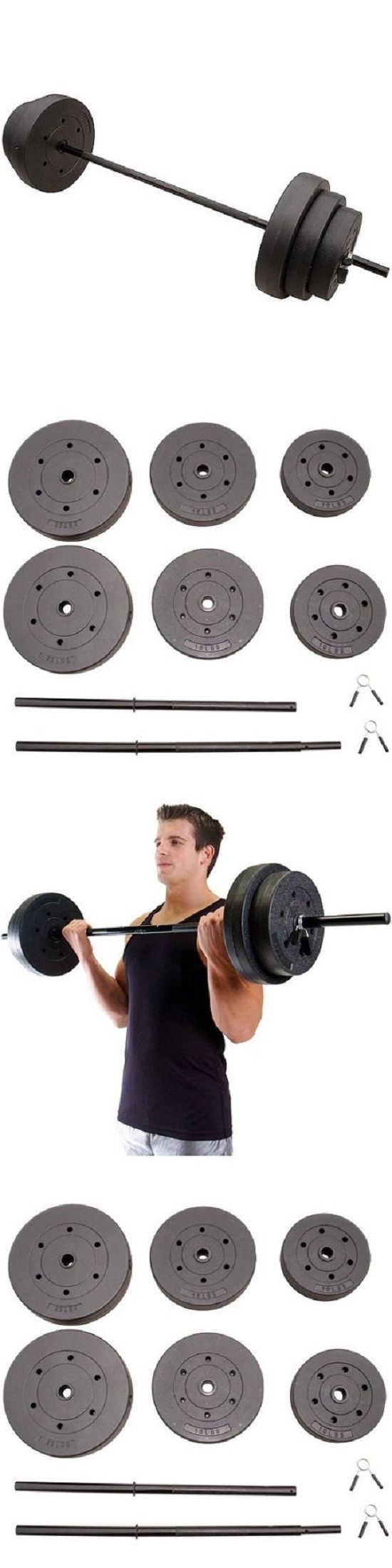 Other Strength Training 28067: Weight Lifting Set 100 Lbs Vinyl Body Workout Dumbbell Bar Equipment -> BUY IT NOW ONLY: $44.67 on eBay!