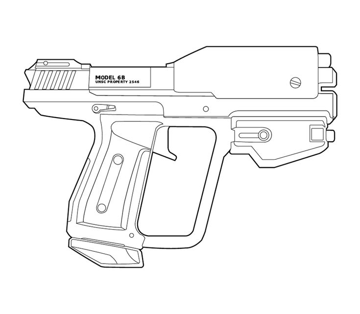 Halo M6g B Type Lineart By Masterchieffox Halo Weapons