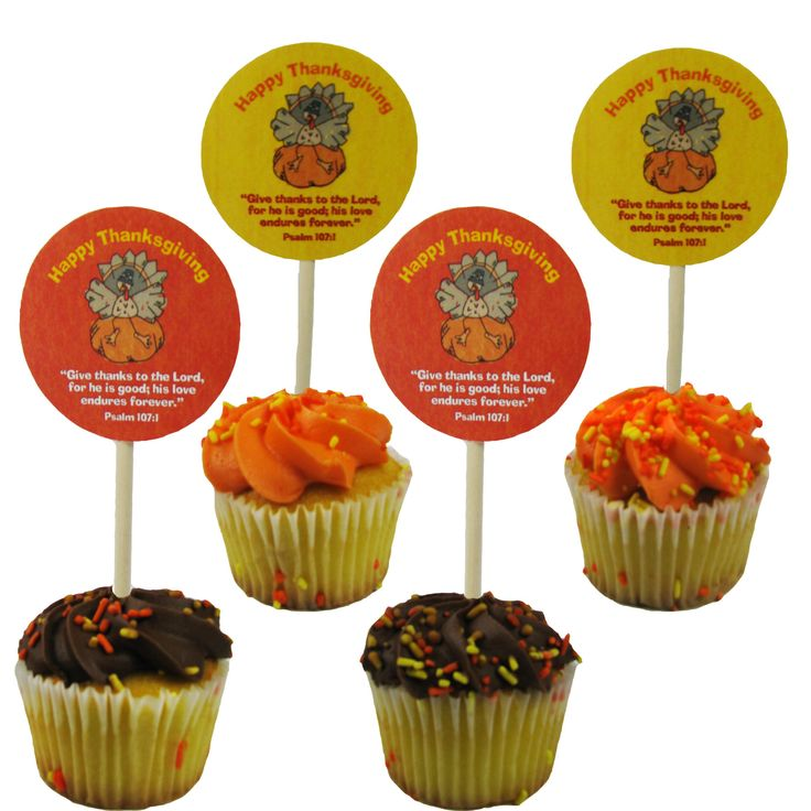 Freebie Friday - Thanksgiving Cupcake Toppers - CUTE FUN FOR THE KIDDO'S