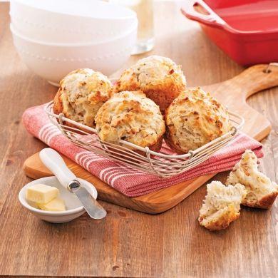 Petits pains au cheddar et bacon - Recettes - Cuisine et nutrition - Pratico Pratique