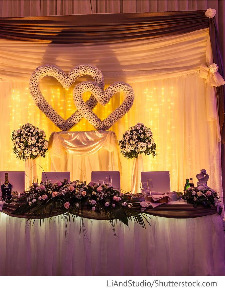 Brautpaartisch Dekoration für die Hochzeiten
