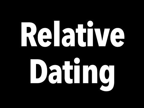 Relative dating definition science