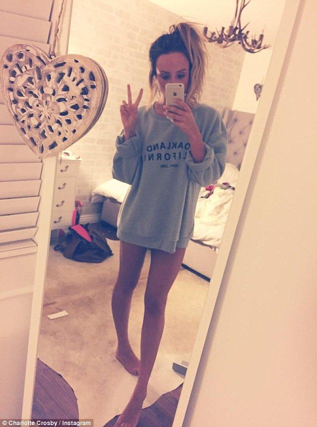 Where are your trousers? She's a keen health and fitness fan and Charlotte Crosby showed o...