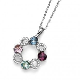 Oliver Weber Women symphonie colourful pendant necklace with Swarovski Crystals