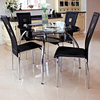 Best 25+ Black glass dining table ideas on Pinterest | Glass top ...