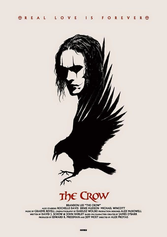 THE CROW [1994] THE CROW (1994, USA) The night before his wedding, musician Eric Draven (Brandon Lee) and his fiancée are brutally murdered by members of a violent inner-city gang. On the anniversary of their death, Eric rises from the grave and assumes the gothic mantle of the Crow, a supernatural avenger. Tracking down the thugs responsible for the crimes and mercilessly murdering them, Eric eventually confronts head gangster Top Dollar to complete his macabre mission.