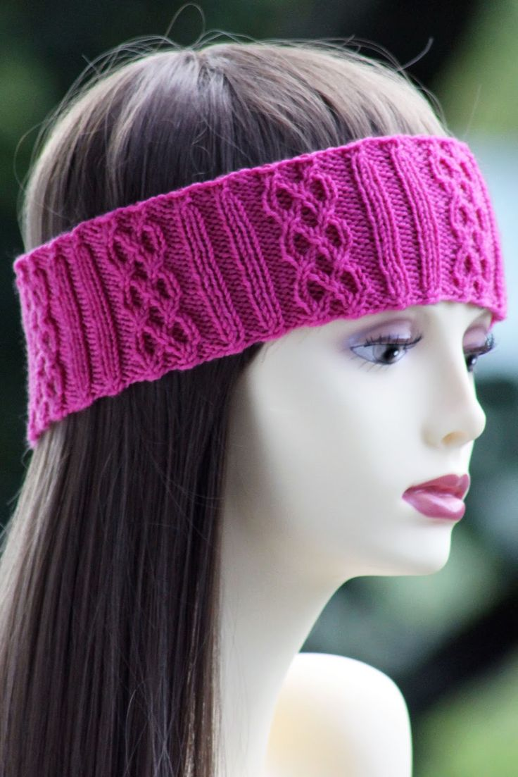 Rib & Braid Headband Balls to the Walls Knits, A collection of free one- and two- skein knitting patterns