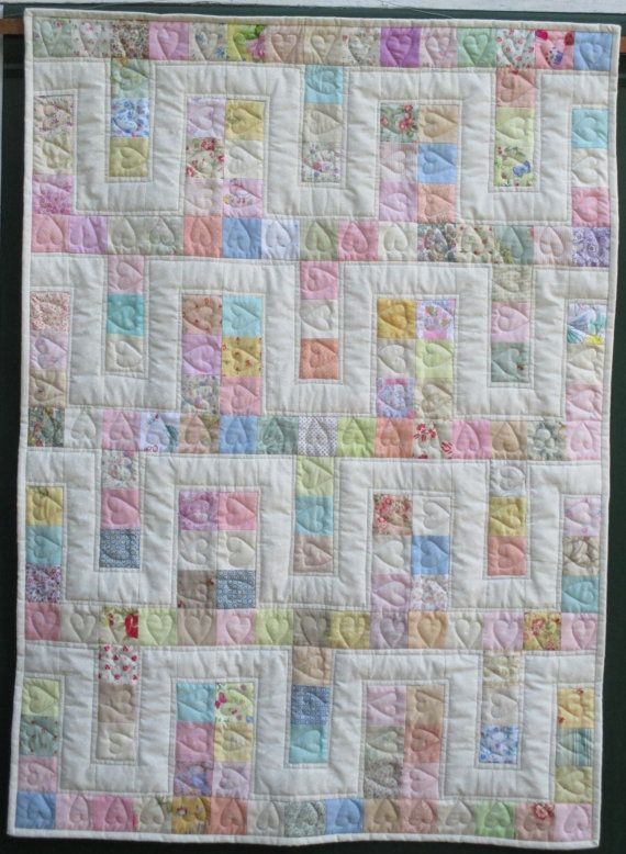 Quilt of Hearts free postage to Australian by HandMadeQuiltsbyJane