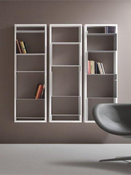 Double-sided sectional bookcase #MONDRIAN 667 by Tonon | #design Davide Negri #books #minimal