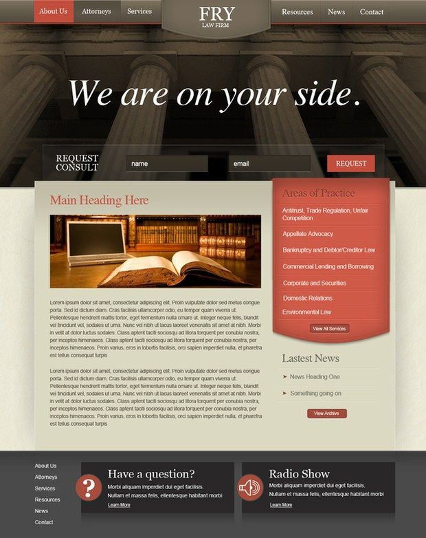 44 best Law website images on Pinterest Avocado, Design web and - law firm brochure