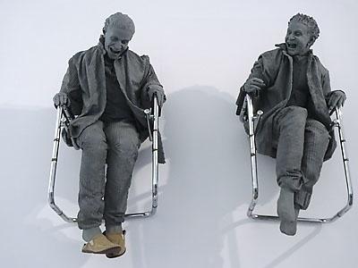 Me fascina Juan Muñoz y sus esculturas felices...