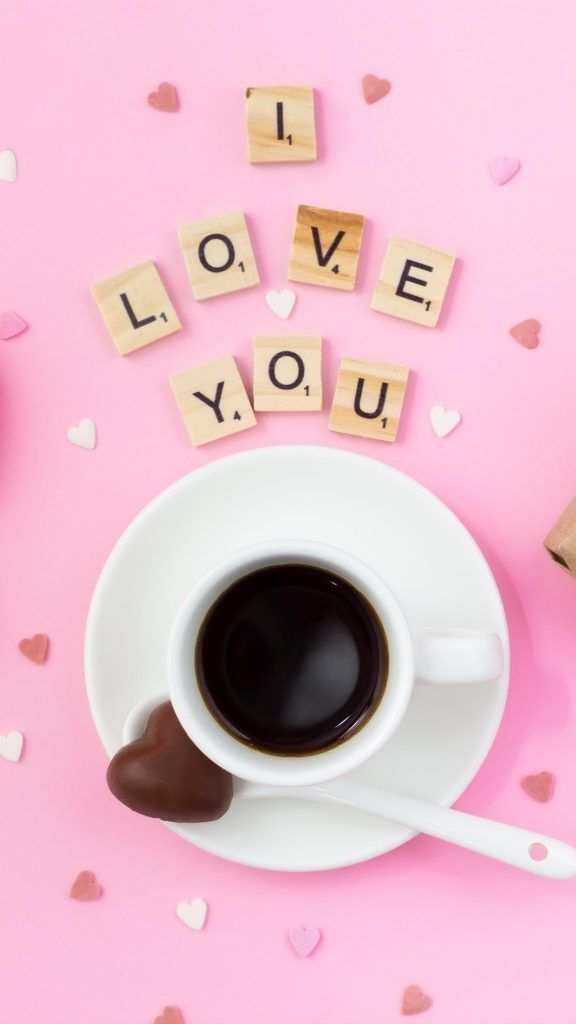 I Love You Coffee Cup 4k Ultra Hd Mobile Wallpaper Coffee Cups Mobile Wallpaper My Love