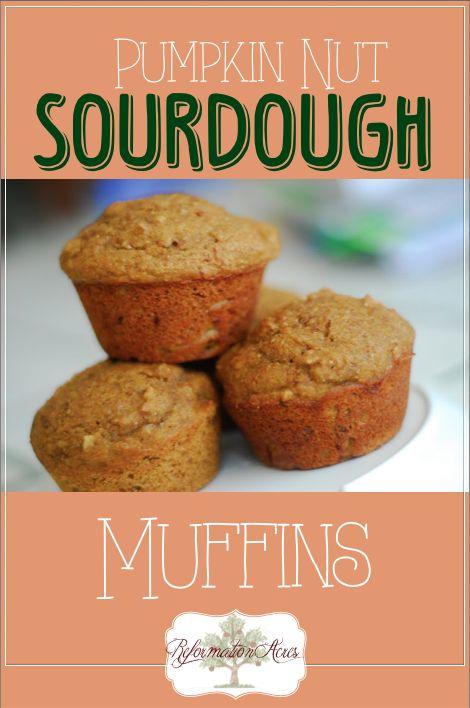 Pumpkin Nut Sourdough Muffins~ | http://www.reformationacres.com/2011 ...