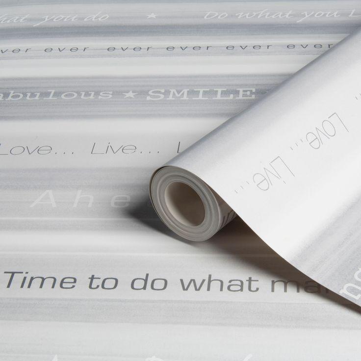 Bliss Stripes Grey Wallpaper | Departments | DIY at B&Q