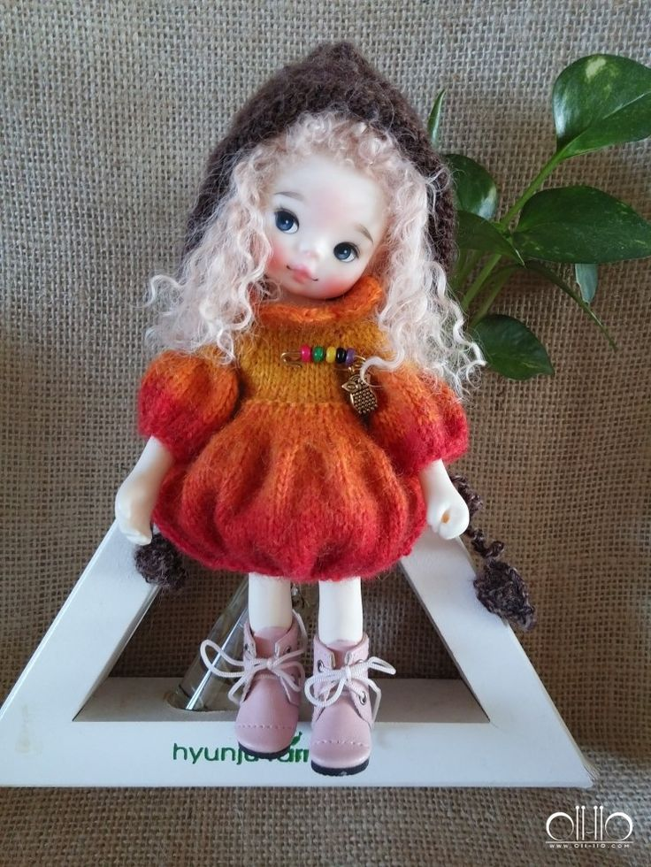 Heavenly kids dolls & orange paprika dress by 퉁퉁이