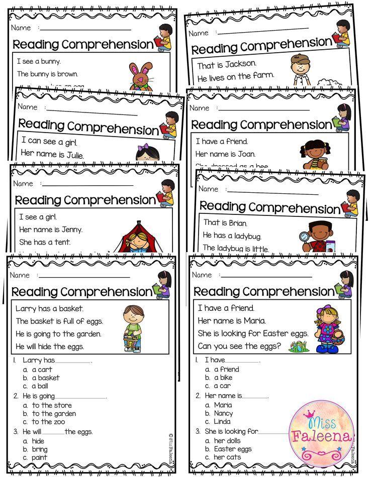 April Reading Comprehension Is Suitable For Kindergarten Students Or Beginni April Reading Comprehension Reading Comprehension Reading Comprehension Worksheets