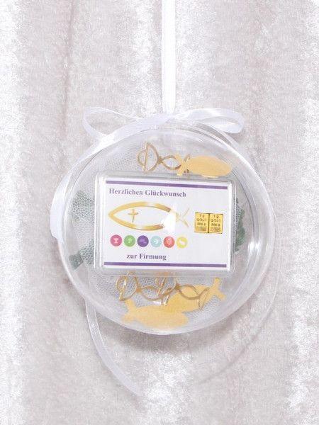 Weiteres - 2g Goldbarren Geschenk Firmung Kelch Fisch - ein Designerstück von gp-metallum-de bei DaWanda