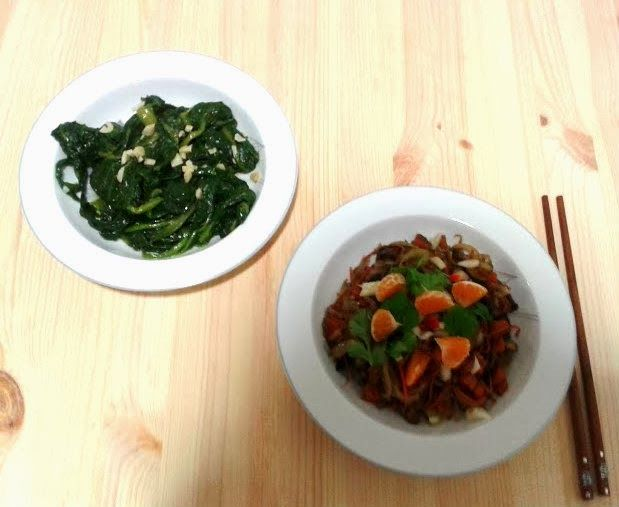 Thai Jasmin Rice with stir-fry Shiitake mushrooms and vegetables http://acozinhaverde.blogspot.pt/2014/01/o-gengibre-cozinha-asiatica-e-novas.html