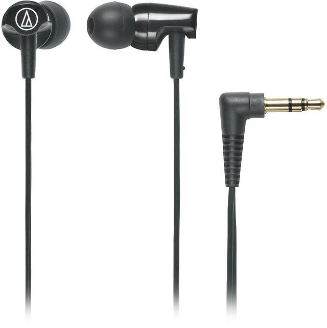 Audio-Technica ATHCLR100BK In-Ear Headphones Black $9.71 (amazon.com)
