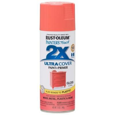 Rust-Oleum Painter's Touch 2X 12 oz. Gloss Coral General Purpose Spray Paint-283189 - The Home Depot