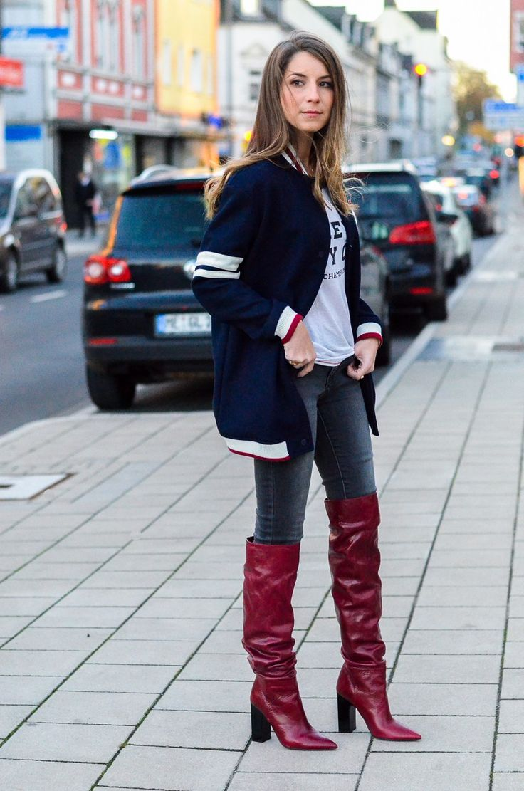 Style Mix :: College Jacke, Jeans & Boots