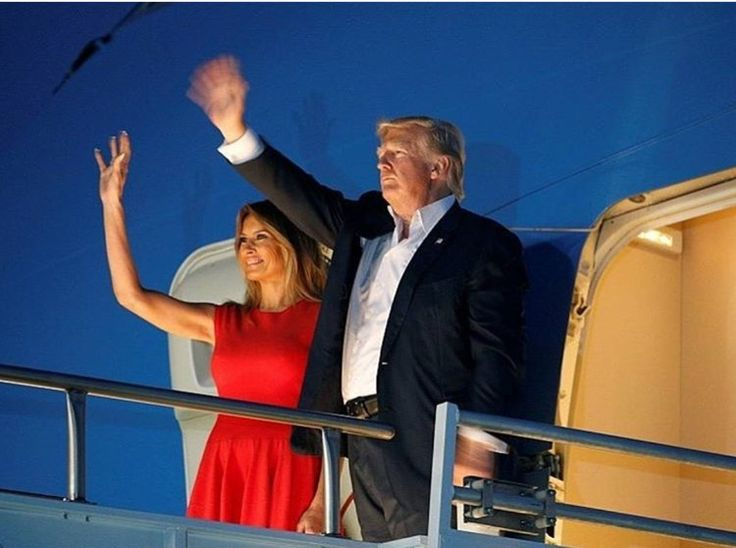Hasil gambar untuk president and first lady trump depart brussels, belgium, en route to taormina, italy
