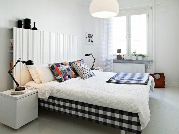Scandinavian design with large bed