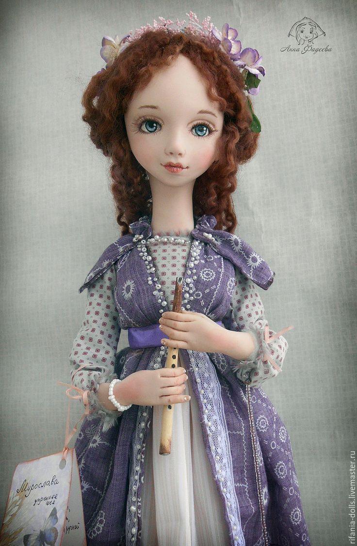 Купить Мирослава - васильковый, фея, коллекционная кукла, ручная работа, оригинальный подарок, Ливинг долл