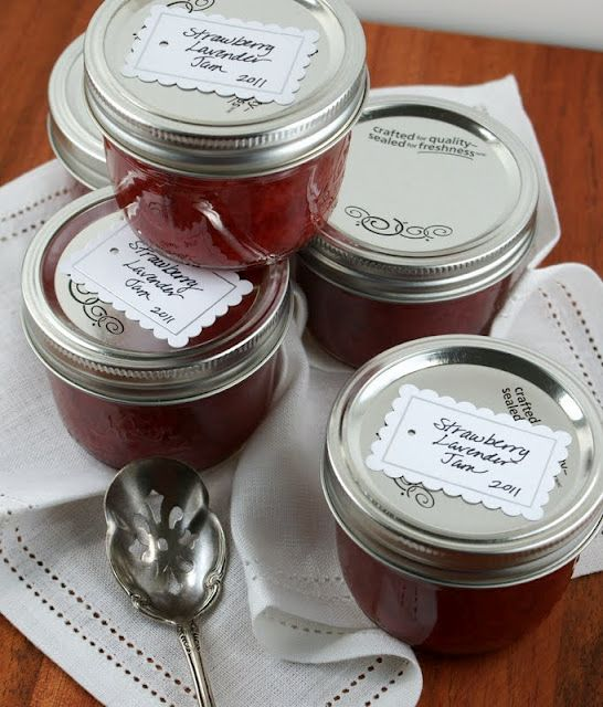 Strawberry Lavender Jam- Had to make a batch after seeing this... It is SO good.