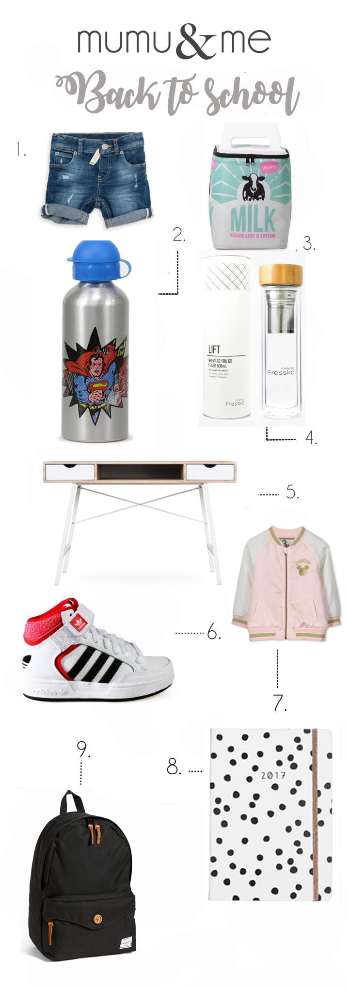 back to school products cool water bottle kids fashion desk