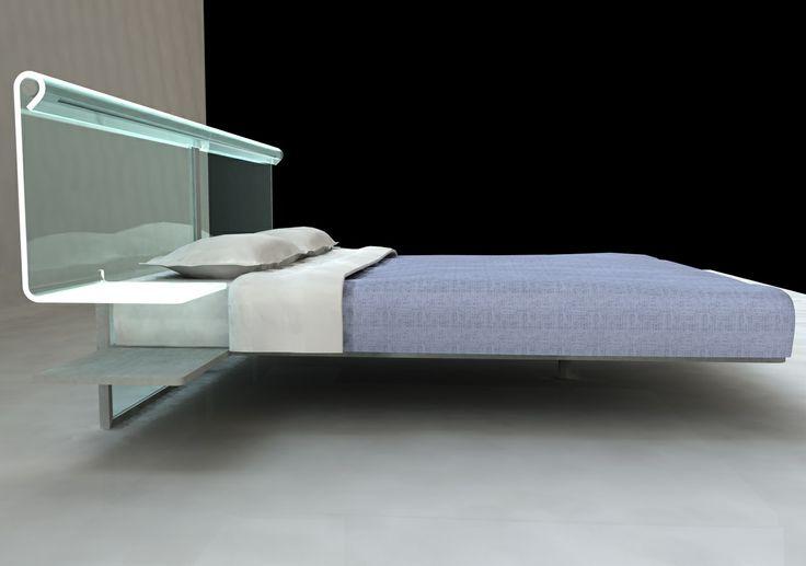 letto vetro curvato