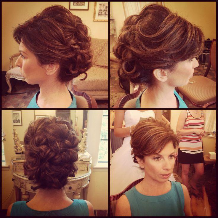 Wedding hairstyles short hair mother bride