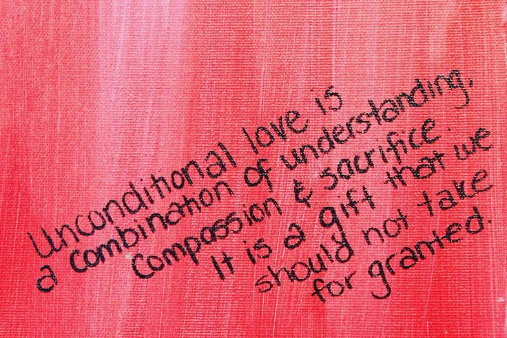 'Unconditional love is a combination of understanding, compassion and sacrifice.'  As seen at Hope Mission's Tegler Youth Centre #mondaymotivation