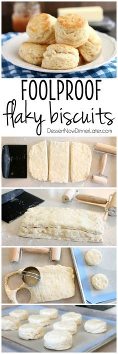 The secret to Foolproof Flaky Biscuits is revealed! Find out how to get flaky, layered, buttery, tender biscuits you will swoon over! (Tips, Tricks, & Photo Tutorial Included!)