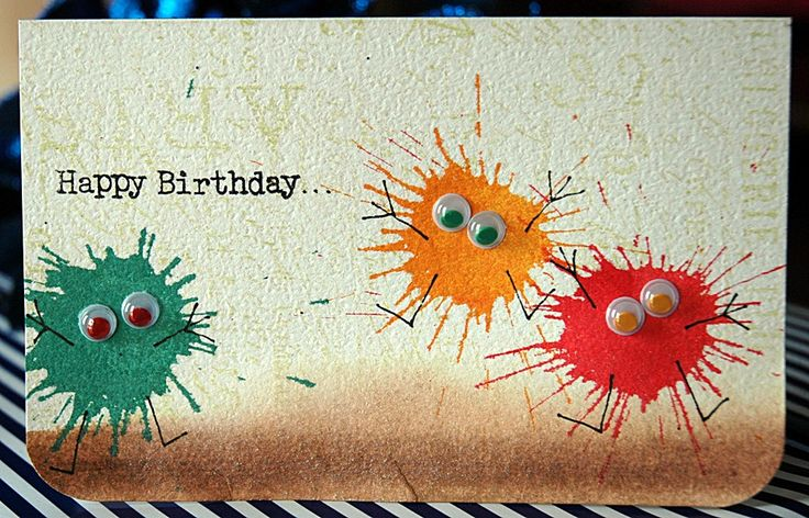 Great birthday card idea from Sarathings (blogger and papercrafter extraordinaire!) - so easy and fun, too.