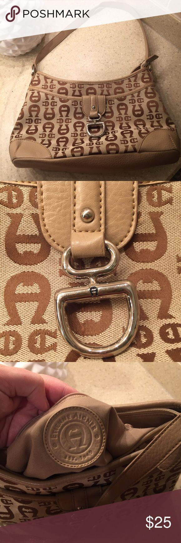 Classic Etienne Aigner Handbag Classic signature logo printed tan Etienne Aigner handbag. In excellent like-new pre-loved condition! 💕 Etienne Aigner Bags