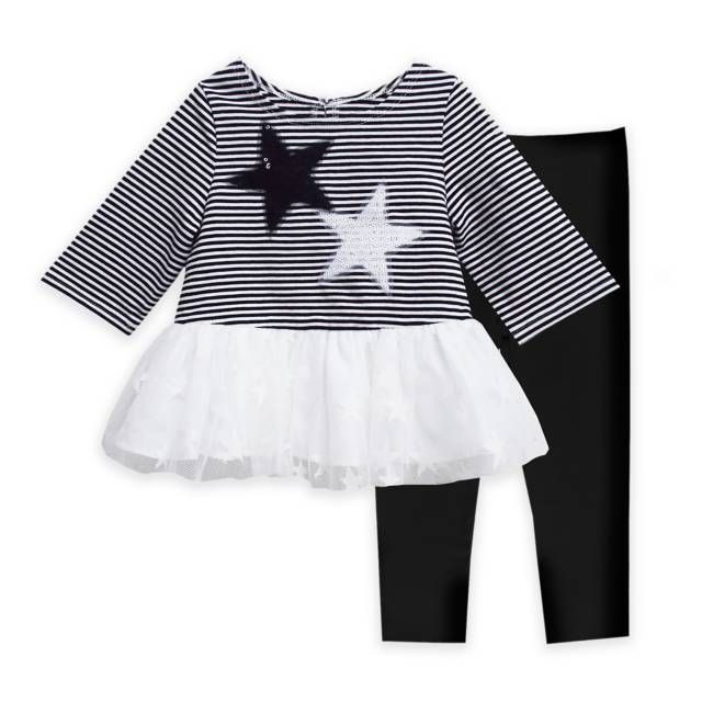 product image for Marmellata 2-Piece Stars and Sequins Tunic and Legging Set in Black/White