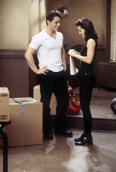 They had some sparks :) ~ Joey and Monica ~ Friends ~ Episode Scenes ~ Season 3, Episode 6 ~ The One with the Flashback