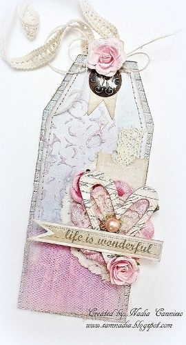 Life Is Wonderful Tag **SCRAPS OF ELEGANCE JANUARY KIT** - http://Scrapbook.com