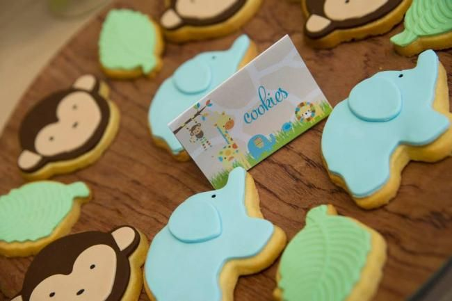 Boys First Birthday Jungle Themed Birthday Party Cookie Food Ideas