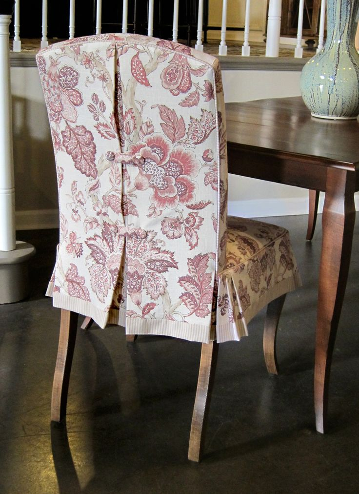 Slipcover Detailing Dining Chair CoversDining Room
