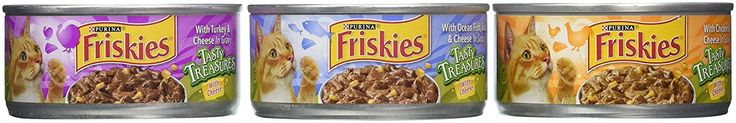 Friskies Tasty Treasures Variety Pack Canned Cat Food, 12 cans,5.5 oz per can, Total Net Wt 4.12lb -- Check this awesome image  : Cat food