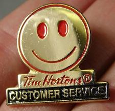 "Tim Horton's Coffee Employee ""Customer Service"" Pin Award.  -- I love my job :)"