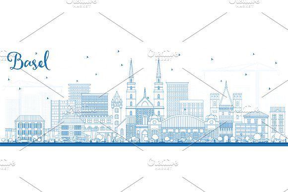 #Outline #Basel #Switzerland #City  by Igor Sorokin on @creativemarket