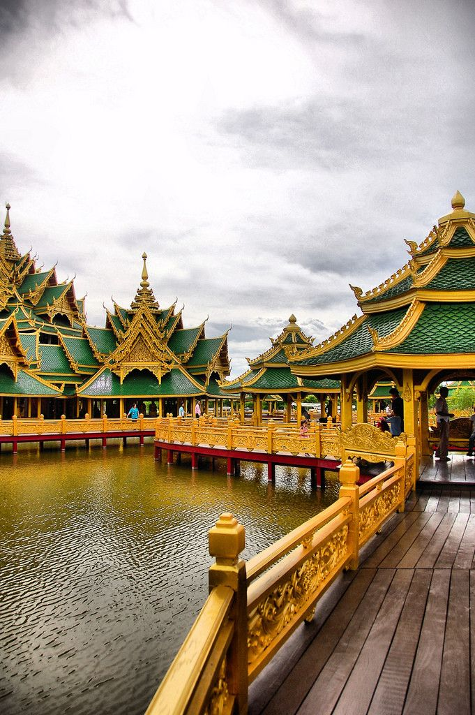 "Pavillion of the Enlightened at Muang Boran, the ""Ancient City"", Samut Prakan, Thailand"
