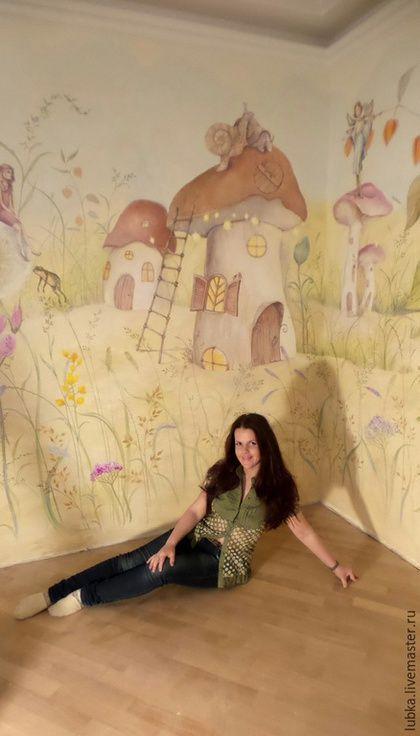 Купить или заказать Роспись стен в детской девочки в интернет-магазине на Ярмарке Мастеров. Роспись стен в комнате маленькой девочки, Множество интересных сказочных персонажей и волшебных домиков,цветочков крошка будет с интересом рассматривать перед сном и не только:) Цена указана за роспись 1кв метра ЧИТАЙТЕ ПРАВИЛА МАГАЗИНА!