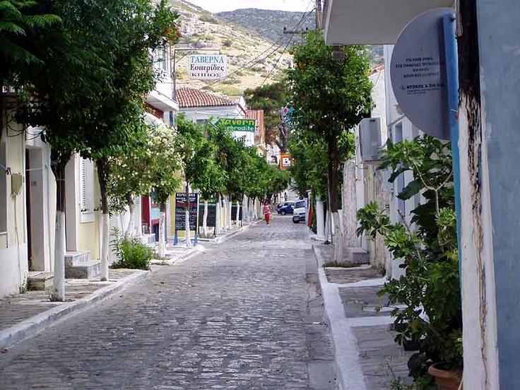 Small greek street