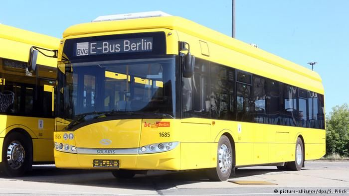 Some German cities make use of electric buses